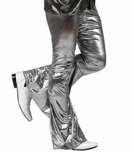 Deguisement costume Disco Pantalon argent