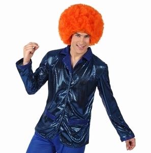 Deguisement costume Disco Chemise bleue