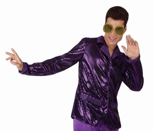 Deguisement costume Disco Chemise violette
