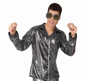 Deguisement costume Disco Chemise argent
