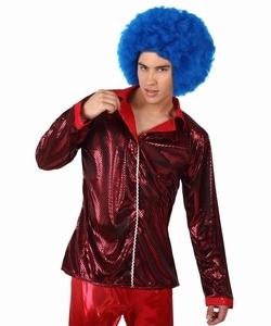 Deguisement costume Disco Chemise rouge