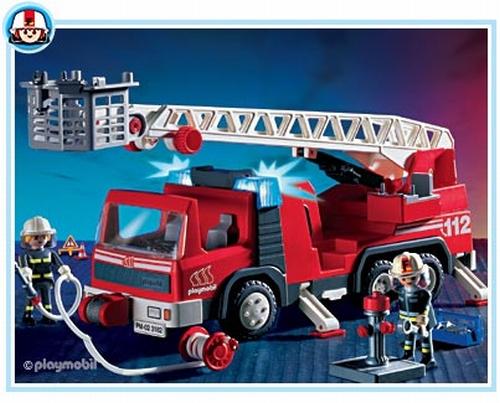 playmobil pompiers camion grande chelle 3182 - Playmobil Pompier