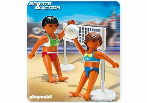 Playmobil Volleyeuses de plage et filet