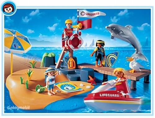 Playmobil Vacanciers poste de surveillance 3664