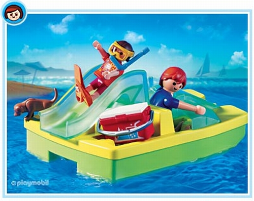Playmobil Maman enfant pédalo 3656