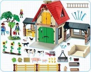 Playmobil Ferme  4490(boite abîmée)