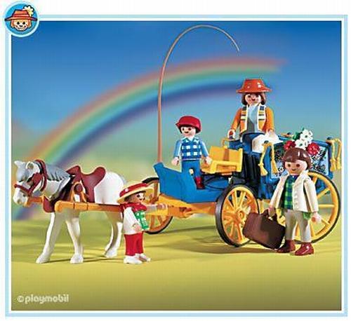 Playmobil Famille et attelage  3117