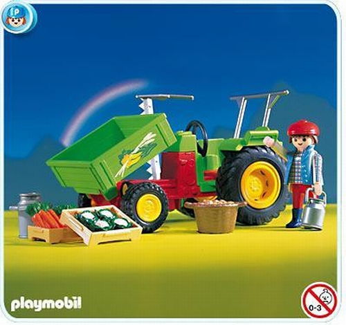 Playmobil Maraîcher tracteur 3074