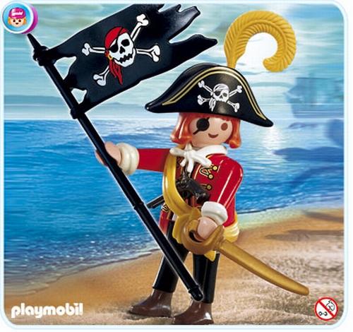 Pirate avec drapeau 4690