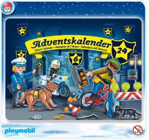 Calendrier L Avent Playmobil.Playmobil Calendrier De L Avent Policiers 4157