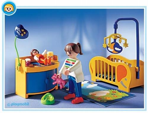 Maman chambre b b playmobil 3207 for Playmobil chambre enfant