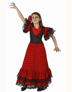 Deguisement costume Danseuse Flamenco à pois 5-6 ans