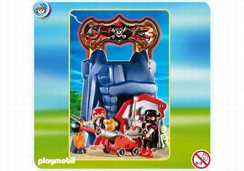 Playmobil Rocher des pirates transportable 4776