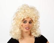Perruque blonde boucles