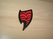Bouclier noir et rouge Neuf