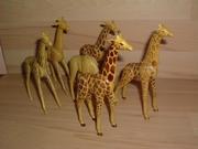 Lot de 6 girafes cassées et en mauvais état