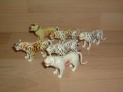 Lot de 6 tigres cassés et en mauvais état