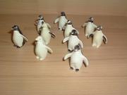 Lot de 10 pingouins cassés et en mauvais état