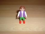 Enfant pantalon vert bottes rouges