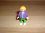 Enfant gilet violet pantalon vert