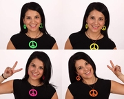 Collier et boucles d'oreille Hippie peace and love