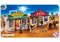 Playmobil Centre ville western transportable 4398