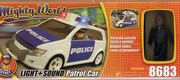 mighty world  voiture de police  sons & gyrophare neuf