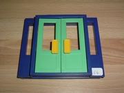 Porte double bleu et vert