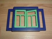 Fenetre double bleu et vert