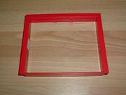 Cadre rouge pour porte