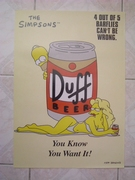 Simpsons duff beer