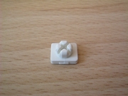 Crochet de fixation blanc