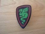 Bouclier chevalier dragon vert