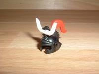 Casque chevalier noir et rouge
