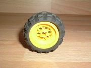 Roue jaune Ø 4,2 cm largeur 2,7 cm
