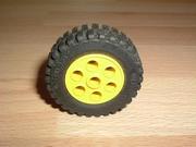 Roue jaune Ø 4,3 cm largeur 1,3 cm
