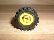 Roue jaune Ø 3,0 cm largeur 1,1 cm