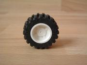 Roue blanche Ø 3,0 cm largeur 1,4 cm