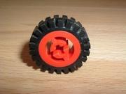 Roue rouge Ø 2,4 cm largeur 0,7 cm