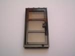 Porte vitrée noire  6 x 3,2 cm