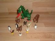 Lot d'animaux cassés et en mauvais état