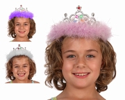 Couronne tiare princesse plumes
