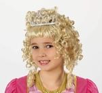 Perruque jeune princesse avec diadème