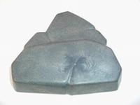 Rocher anthracite triangulaire