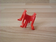 Equipement selle pour âne rouge