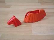 Equipement couverture et cuirasse pour cheval rouge