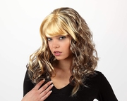 Perruque blonde mèches brunes