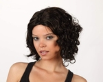 Perruque brune courte