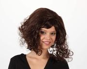 Perruque brune courte boucles