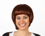 Perruque châtain cheveux courts